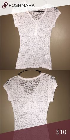 GUESS LACEY TOP SIZE S This is a Lacey top made by Guess that is in excellent condition. Guess by Marciano Tops Blouses