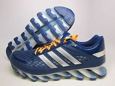 Adidas Men's Springblade Razor Night Blue/Orange Running Shoes Save 20% today at www.sneakerkingdom.com.