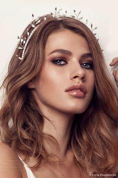 olivia headpieces 2017 bridal hair accessories walk on the wide side crystal headband wedding -- Olivia Headpieces 2017 Bridal Accessories Collection #wedding #bridal #hair #headpiece