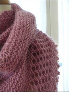 pas à pas châle en tricot Plus
