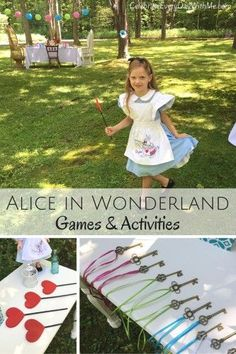 Creative games/activities for an Alice in Wonderland party.