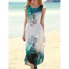 Bohemian Style Sleeveless Printed Women's Dress | TwinkleDeals.com
