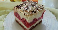 Ciasto jest bardzo delikatne smak twarogu i malin przełamany jest chrupiącą bezą z posmakiem czekolady . To ciasto raczej dla cierpliwych , bo warto tworzenie ciasta rozłożyć na dwa dni ale tak szczerze mówiąc ciasto robi się bardzo a raczej składa bardzo szybko . Dzień wcześniej warto upiec biszkopt i blat bezowy