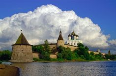 The Pskov Kremlin (Krom). The Krom is an ancient construction of medieval origins located in the city of Pskov, Russia. Its surrounding walls, which still stand today, were constructed starting in the late 1400s.