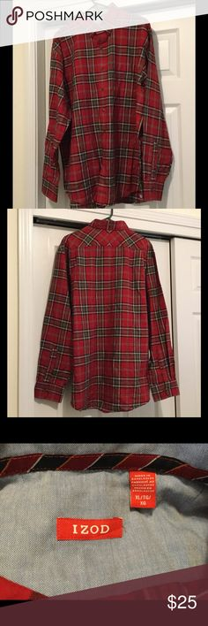 🛍Black Friday SALE🛍NWOT Men's Plaid Woven Shirt NWOT, never worn. No rips, stains or tears. True to size. Izod Shirts