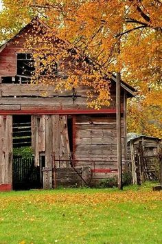 Country Living - seeing old barns on the farm makes me nostalgic.  #barn #country