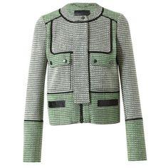 PROENZA SCHOULER Basketweave Tweed Jacket ($2,245) ❤ liked on Polyvore
