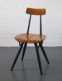 Pirkka dining chair, 1955 by Ilmari Tapiovaara for Asko in Finland. Without any nails.