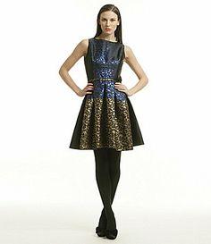 Belle Badgley Mischka Brocade Dress #Dillards