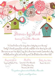 Long distance baby shower invitation i wrote this cute little shower by mail invitation long distance by sharingapassioninc filmwisefo Choice Image