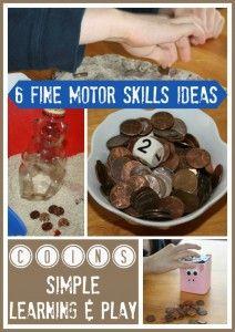Coins Fine Motor Skills Activities 725x1024 212x300 Coin activities for preschool, kindergarten, and first grade