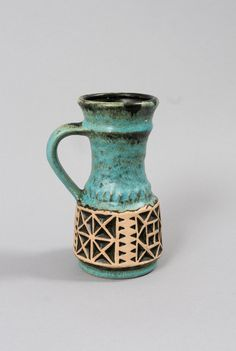vintage vase west germany jasba retro art pottery by northvintage, kr230.00