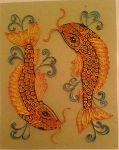 Pisces, carps by quilling