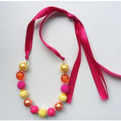 Big sale 2015 high quality child/kids/girl beads chunky bubble gum necklace 2pcs/lot baby handmade necklace in stock