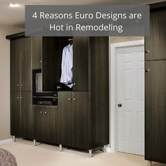Sleek european design trends are finding their way into every space - whether it's a closet wardrobe, a one level bathroom or a kitchen. Learn more in this article.