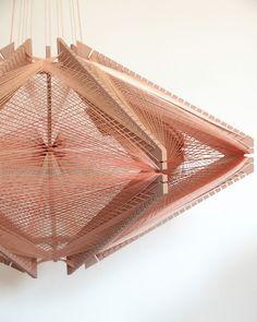 Pink sputnik lampshade | Julie Lansom | pamomo