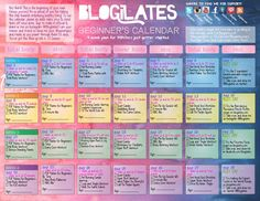 Blogilates Beginner's Calendar.