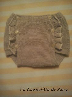 La canastilla de Sara: Tutorial jersey y cubrepañal Knitting For Charity, Knitting For Kids, Baby Knitting Patterns, Baby Patterns, Tricot Baby, Knit World, Knitting Basics, Baby Suit, Baby Pants