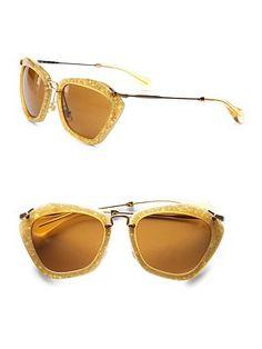 419bfc60b88 Miu Miu - Noir Catwalk Sunglasses - Saks.com Sunnies