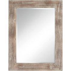 "Brady Rustic Natural Wood 27 1/2"" x 35"" Wall Mirror - Style # 24A79"