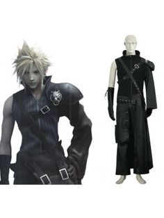 Final Fantasy VII 7 Advent Children Cloud Strife Cosplay Outfits Costumes