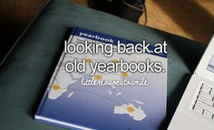 Looking back and old yearbooks