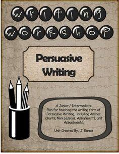interesting persuasive writing unit