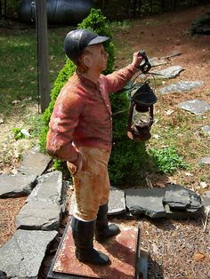 Horse Country Chic: The Lawn Jockey (get one for Leah's yard)