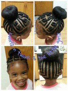 Cute braid style for a natural little girl! Girl's Hairstyles little girl braid styles with natural hair - Hair Style Girl Lil Girl Hairstyles, Black Girl Braided Hairstyles, Girls Natural Hairstyles, Natural Hairstyles For Kids, Braid Hairstyles, Braided Mohawk, Bun Hairstyle, Hairstyle Ideas, Toddler Hairstyles