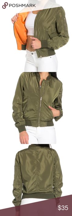 ✨NWT green bomber jacket w/ gold zippers✨ ✨100% polyester                                     ✨Price is firm, unbranded, no trades, same/next day shipping Urban Outfitters Jackets & Coats