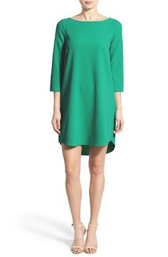 cupcakes and cashmere Stretch Crepe Shift Dress available at #Nordstrom