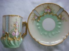 Limoges Tea Cup and Saucer Sold for $76.00 Bidders 5