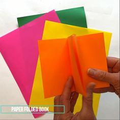 Paper Folding Crafts, Paper Crafts Origami, Diy Paper, Diy Crafts For Gifts, Book Crafts, Fun Crafts, Paper Video, Paper Book, Book Folding