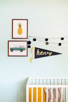 diy no-sew felt name pennant | lovely indeed...