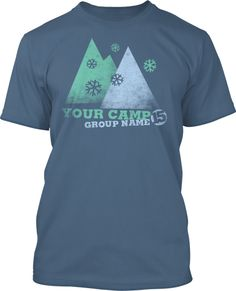 This sharp mountain theme incorporates the minimal iconic nature of todays most popular t-shirt trends and is aimed at the trend setting kids in your ministry. Somewhere in-between modern art and a hot cup of chocolate this artwork generates enough interest to start conversations. You will see your students wearing this cool looking design for years after your camp!  Church Winter Camp T-Shirt Design #830