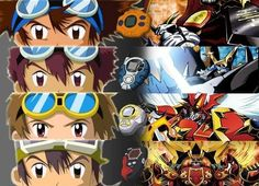 the goggle heads!! digimon!!