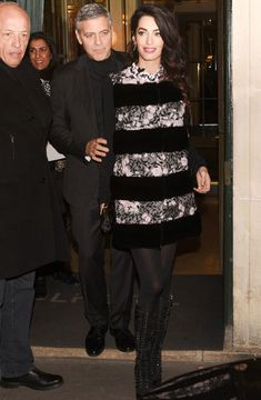 Amal Clooney PerfectsParisian Date-Night Maternity Style