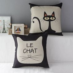 Hot Cute Cat Cotton Linen Throw Pillow Car Sofa Deco Pillow Case Cushion Cover #>=#>=#>=#>=#> Click on the pin to check out discount price, color, size, shipping, etc. Save and like it!