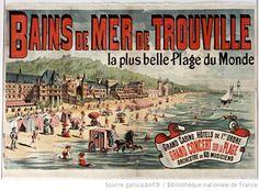 Bains de mer de Trouville... : [affiche] / [A. F.] - 1