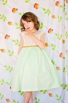 fancy mint and cream party dress // girl like the sea