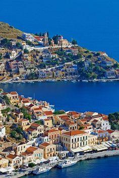 Greece, Dodecanese, Symi, Gialos harbor