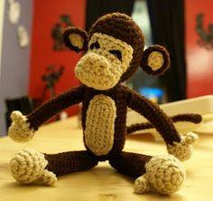 Monkey by Shawna of the CrochetBot3000 blog.