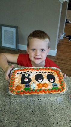 Cake walk cake-5 years old- did it on his own