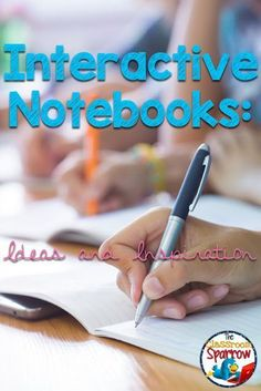 Interactive Notebook Ideas and Inspiration: A Roundup! by The Classroom Sparrow These ideas are meant for middle school and high school students but can be customized to work with any age. Some excellent ideas here!