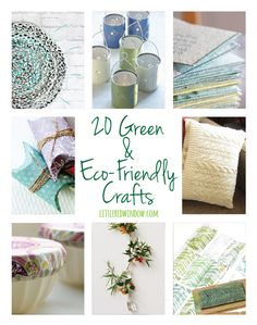 These crafts are really simple & a great way to help the planet while having fun creating!
