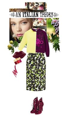 """Fatto in casa"" by blackfresa ❤ liked on Polyvore featuring Carolina Herrera, Kenzo, An Italian Theory, Topshop, Lulu Guinness and Yves Saint Laurent"