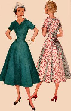 Vintage 1950s Simplicity 4601 ROCKABILLY Full Skirt by sandritocat, $22.00