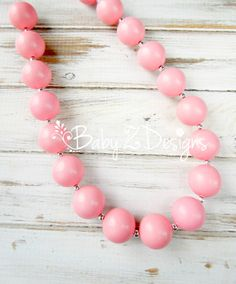 Coral Bubblegum Chunky Necklace  Fits all ages by babyzdesigns, $15.99