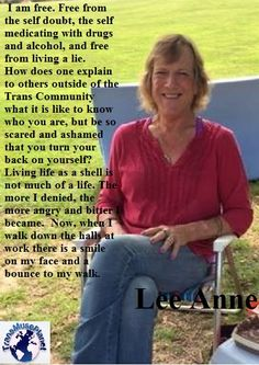 Lee Anne, Activist/ Co-director of Charleston Area Transgender Support Group (C. /Charleston Legend Quote From.