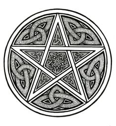 Celtic Knotwork Protective Pentacle Art Print by ArtByEvelyne, $14.50...as a tat???